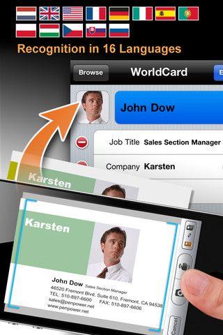 Worldcard Mobile Business Card Reader Business Card Scanner Business Card Scanner Mobile Business Apple Apps