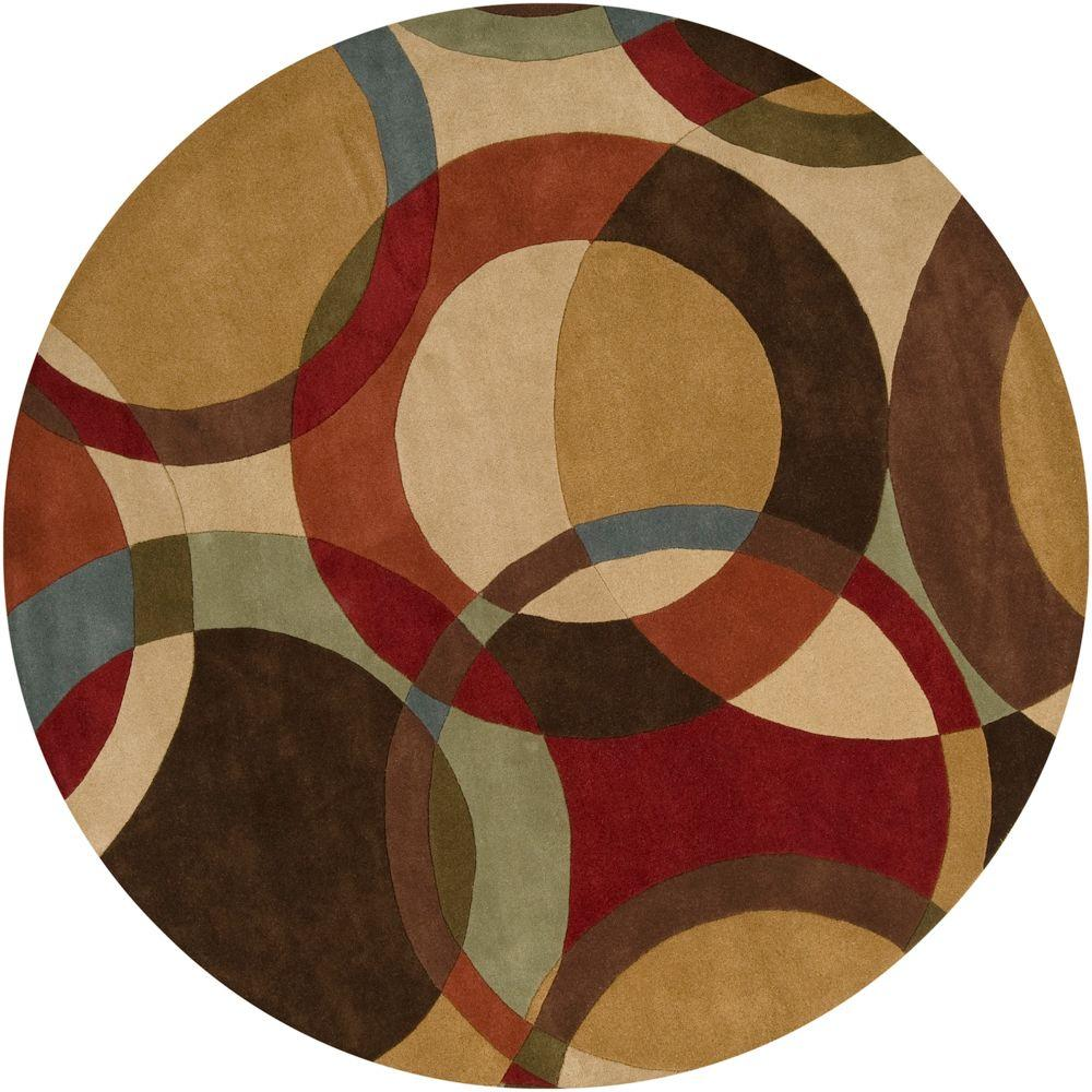 Artistic Weavers Seletar Brown 8 Ft Round Area Rug S00151013501 The Home Depot Wool Area Rugs Modern Area Rugs Area Rugs