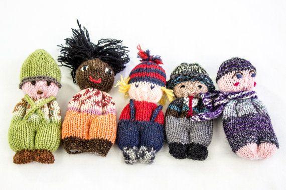 Cute Amigurumi Knitting Patterns : Knitting pattern doll toy pocket doll pdf amigurumi knitting