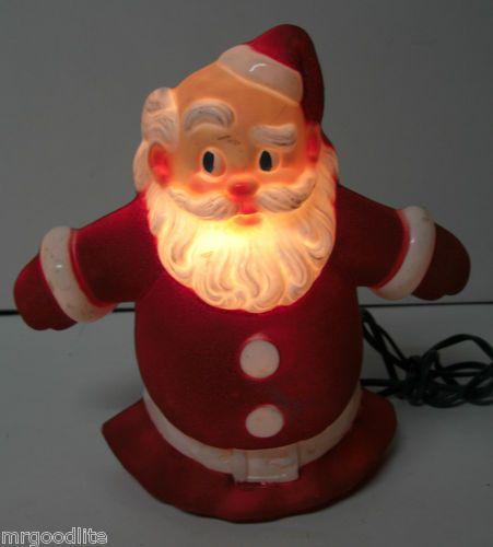 Noma Christmas Decorations: Flocked Noma Santa Claus Tree Topper (1950's)