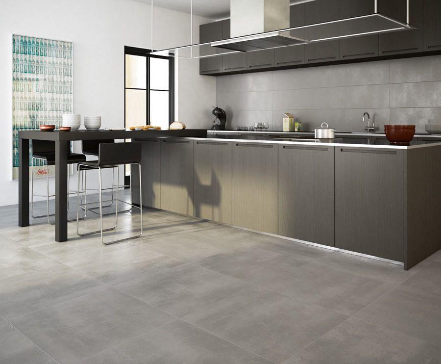 Ambientación cocina serie Concrete - Porcellanato ILVA   PORCELANATO ...