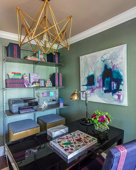 Lisa Mende Design Our Ronald Mcdonald House Long Island Room Before After Interior Office Interior Design Modern Home Office