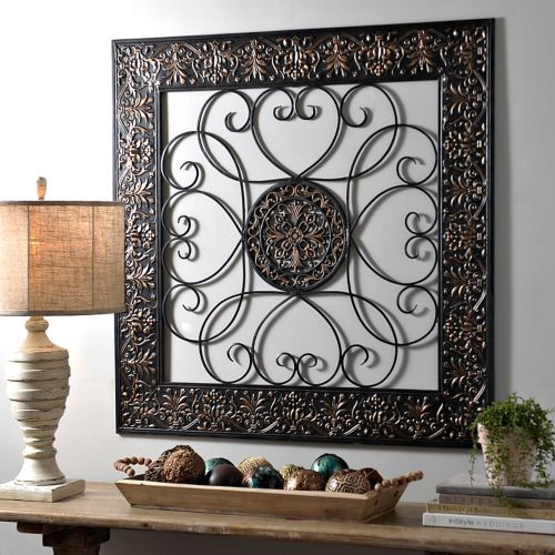 Bronze Embossed Medallion Metal Wall Plaque Iron Wall Decor