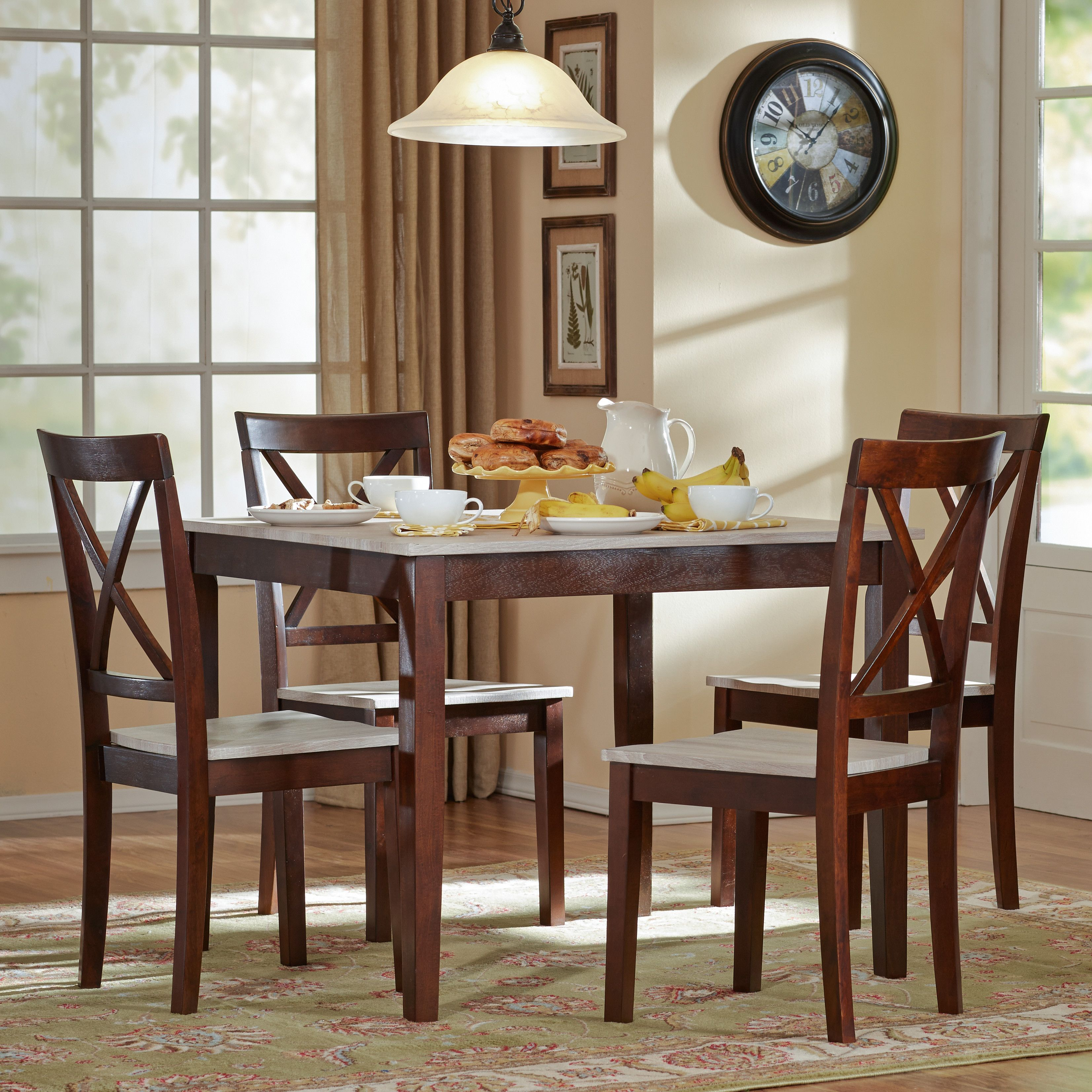 Tilley Rustic 5 Piece Dining Set Kitchen Dining Sets Interior Decorating Kitchen 5 Piece Dining Set
