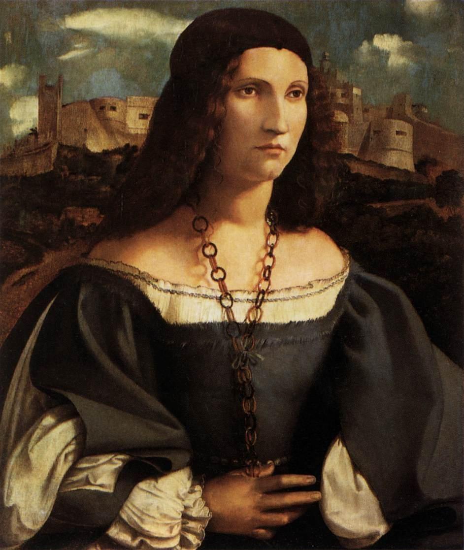 """Melone, Altobello - Portrait of Alda Gambara - Renaissance (High Italian, """"Cinquecento"""") - Portrait - Oil on wood"""