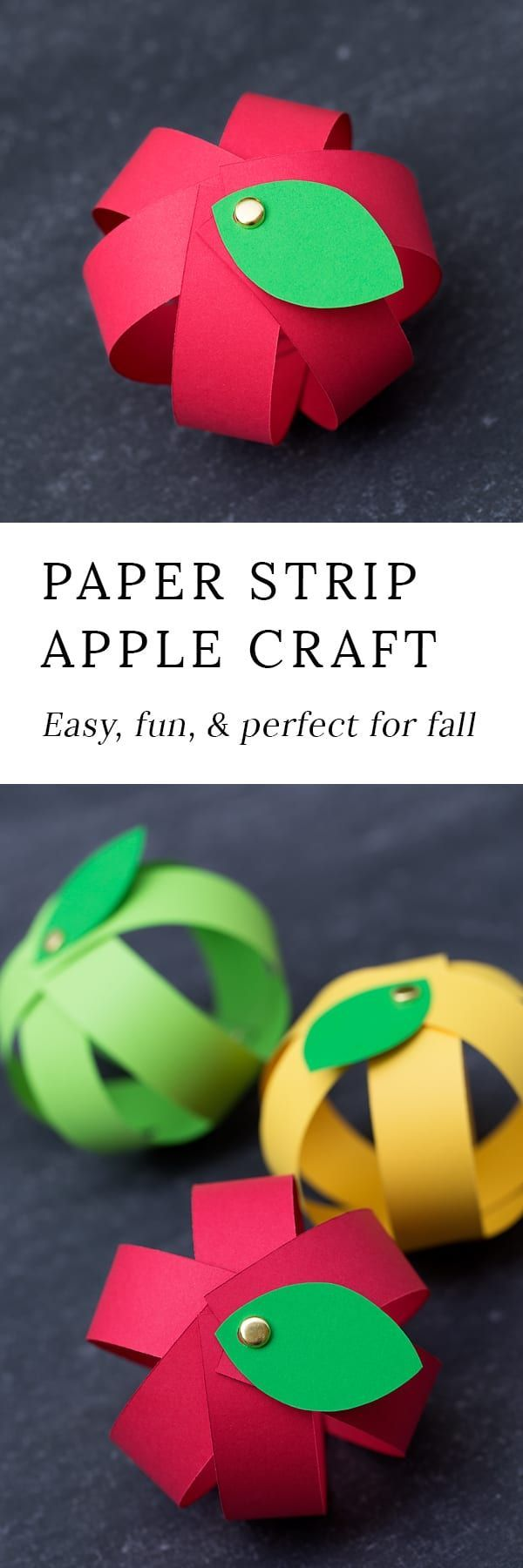 0011 Make Your Own Easy Paper Apple Craft with Free Printable