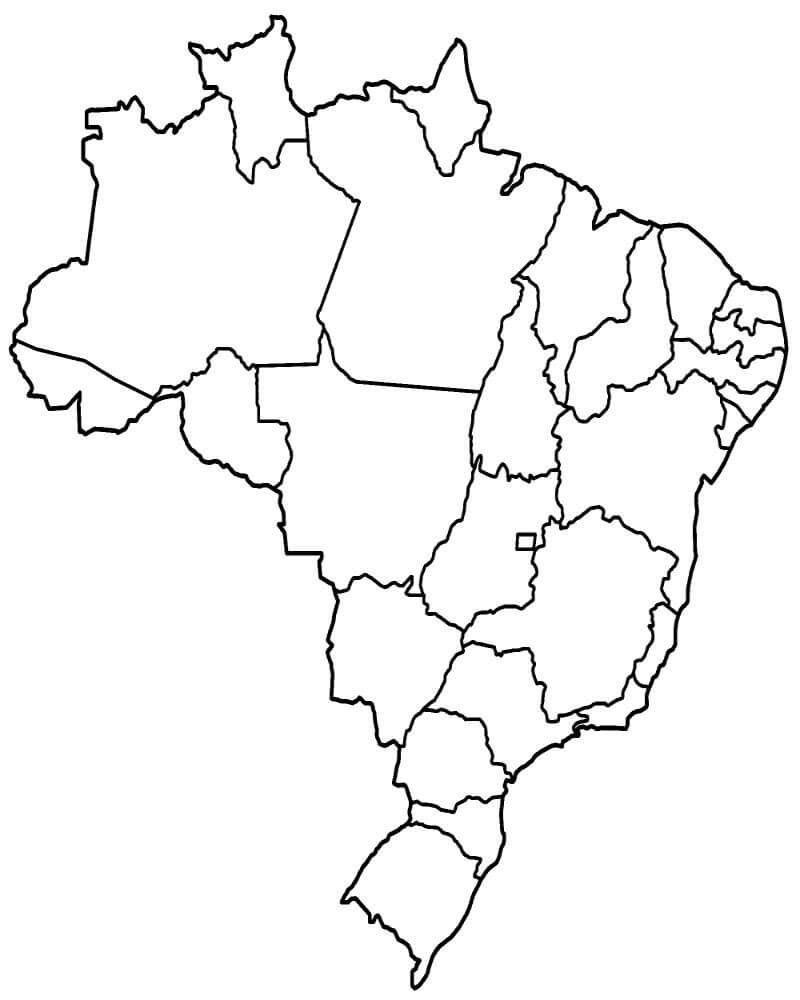 Atividade Mapas Em Branco Para Preencher Com Imagens Estados