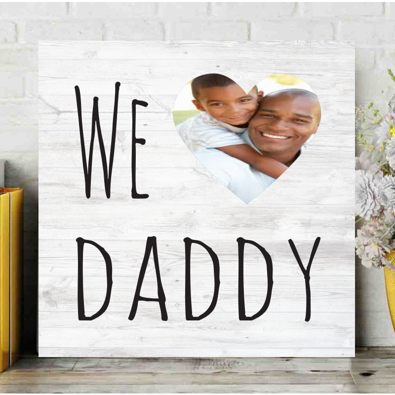 We Heart Dad Customized Canvas | Christmas gift for dad, Gifts for dad, Trending christmas gifts