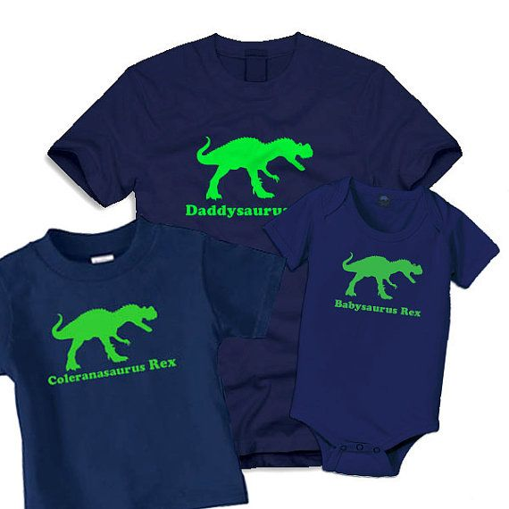 4 Dinosaur birthday shirts, family shirts_2 adults dinosaur, 2 kid Shirt, family dinosaurs