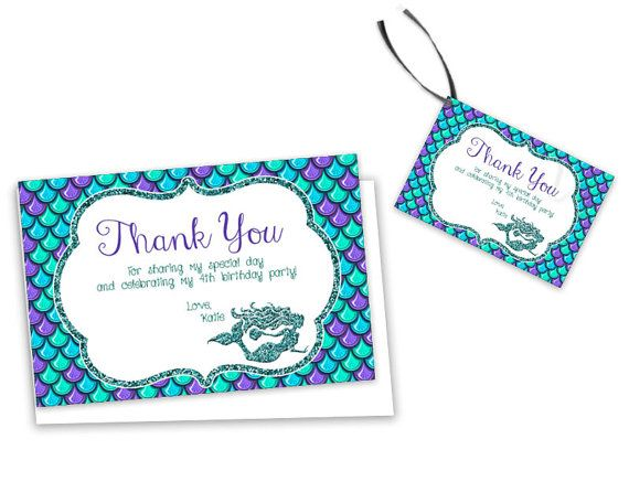 Thank Your Under The Sea Guests With These Mermaid Birthday Thank