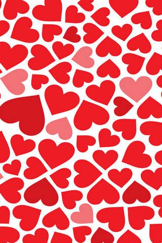 Download Red Hearts Pattern IPhone Wallpaper 38092 From Mobile Wallpapers This