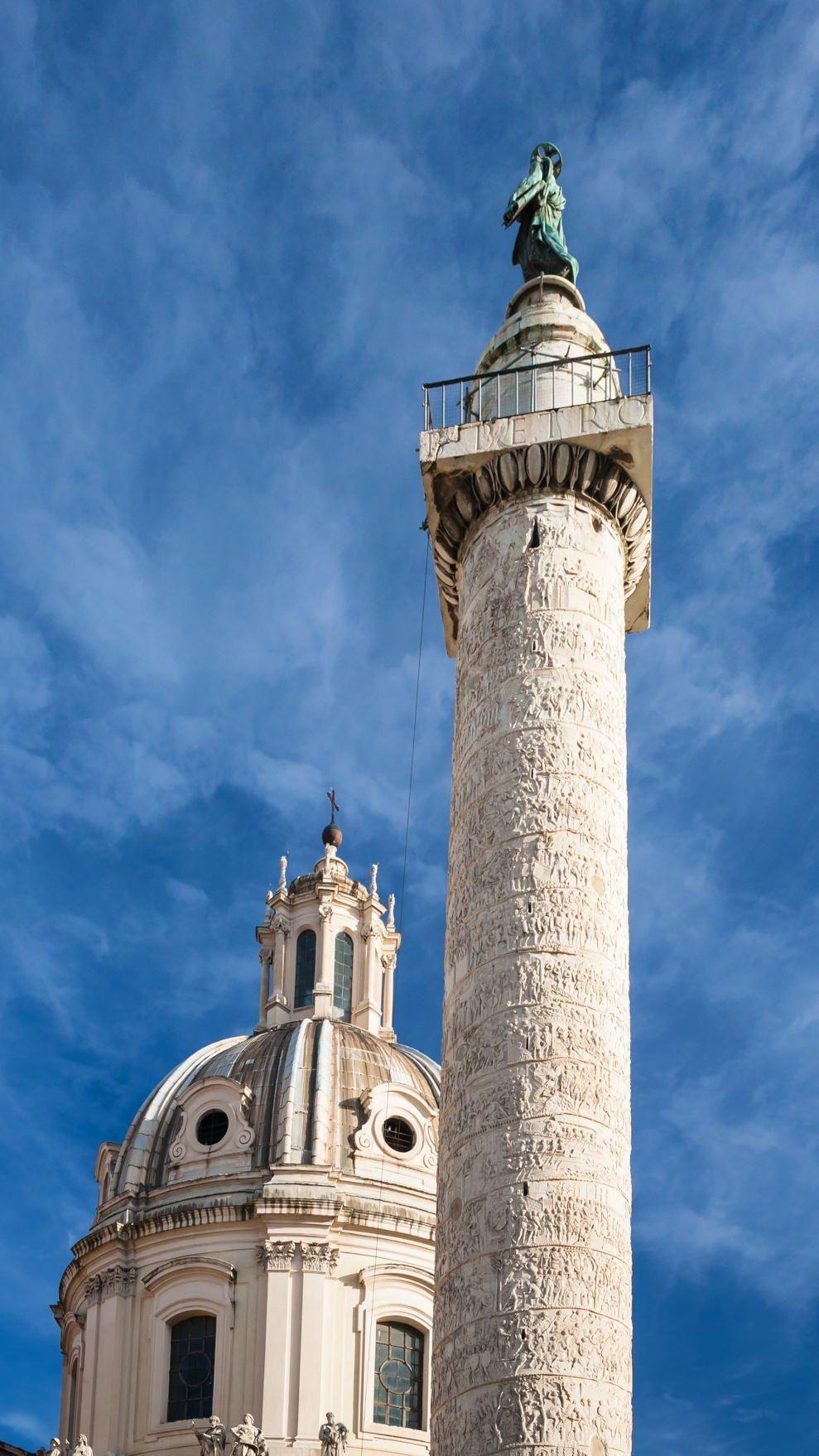 Trajans Column | Trajans Column; Rome, Italy. A Roman