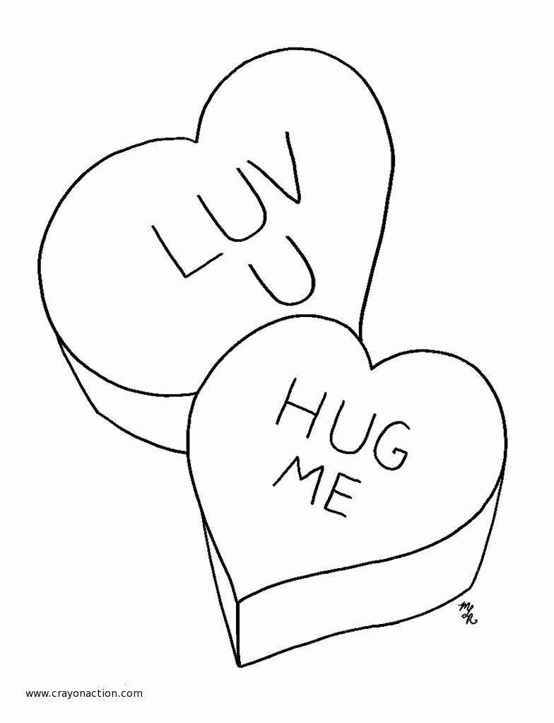 Conversation Hearts Coloring Pages Best Of Valentine Can S