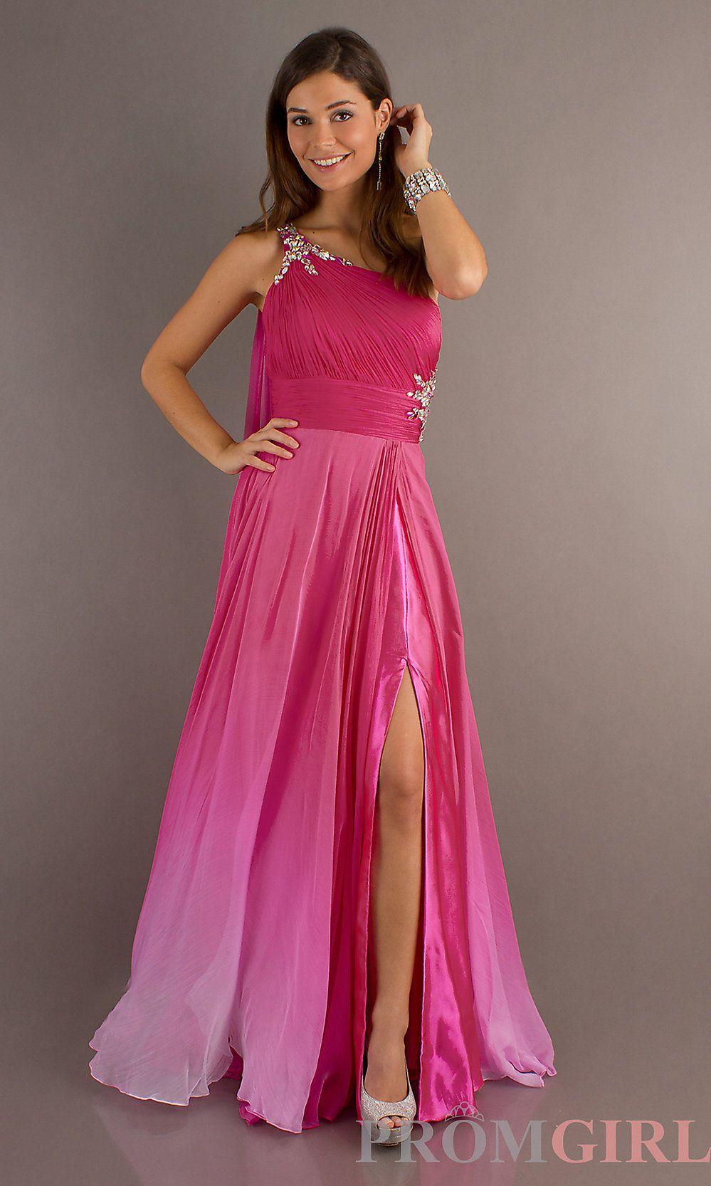 fushia ombre dress $299