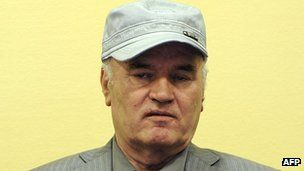Former Bosnian Serb General Ratko Mladic his initial appearance at the UN Yugoslav war crimes tribunal in The Hague on 3 June 2011
