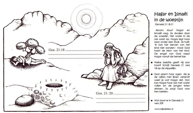 hagar and ishmael coloring pages - photo#17