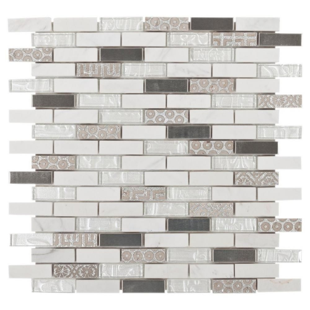 Floor And Decor Glass Tile Taveuni Brick Glass Mosaic  12Inx 12In 913102794  Floor And