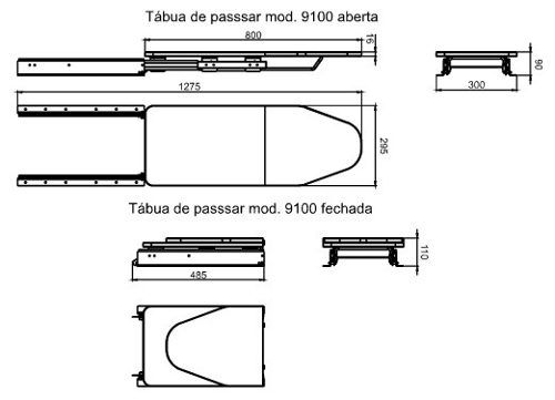 Especificacoes De Tabua De Passar Embutida Com Imagens Tabua