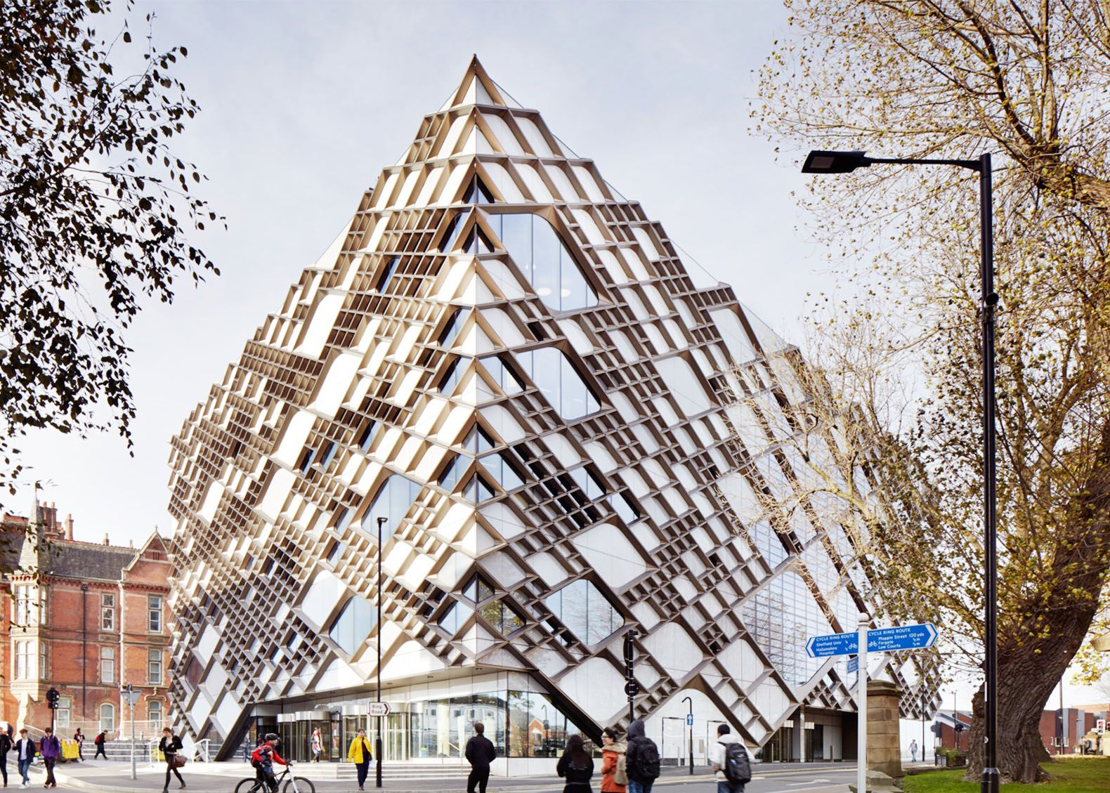 Sheffield 39 s striking diamond building is wrapped in a - Sheffield school of interior design ...