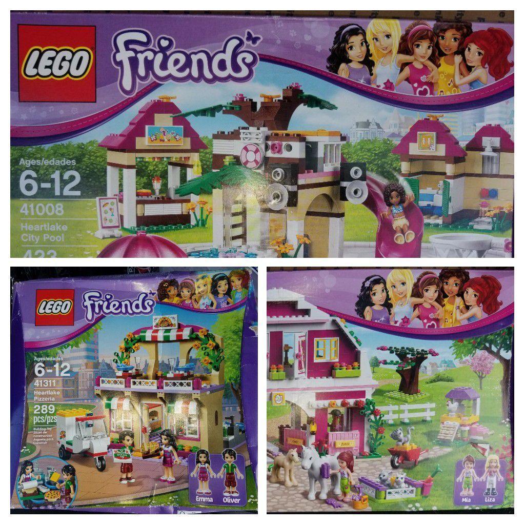 Three Lego Friends Sets Bundle Pizzeria, Farm House and ...