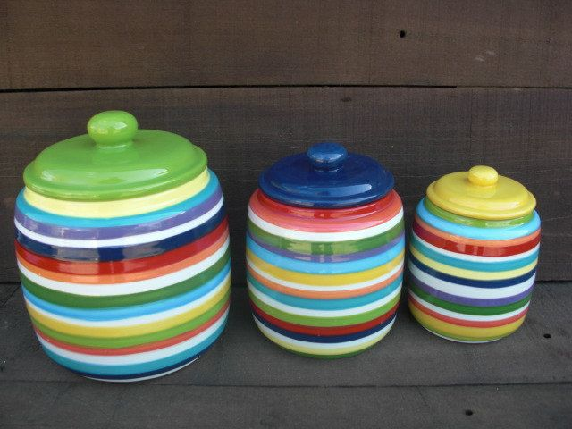 colorful kitchen canisters sets