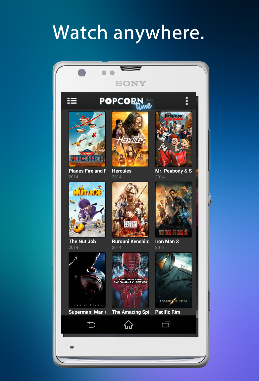 Get ready for Popcorn Time in Google Play. android