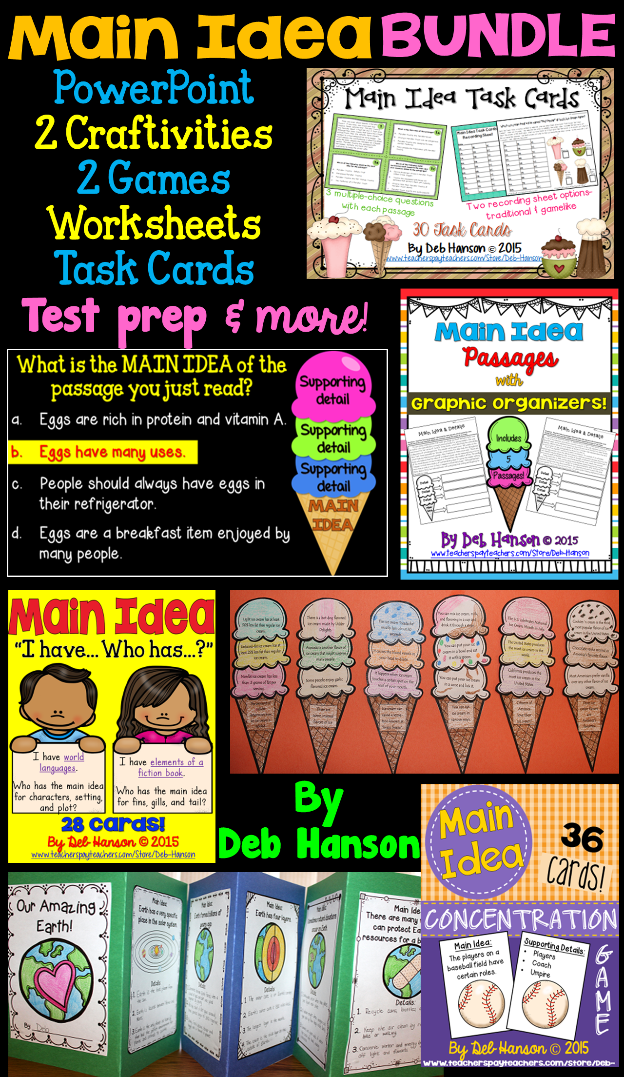 Main Idea Bundle 4th 5th And 6th Grade