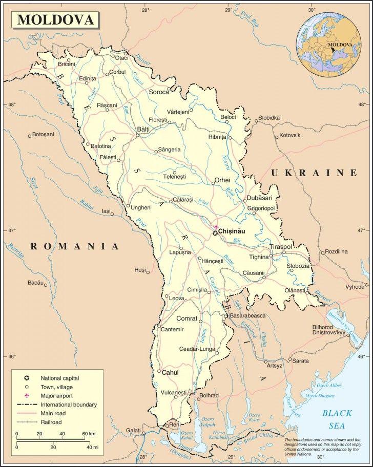 Map Of Moldova Moldova Map Moldova Map