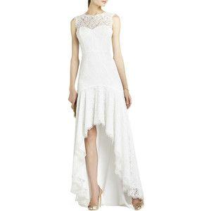 BCBGMAXAZRIA Clarissa Sleeveless Lace High-Low Gown