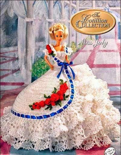 Patrones de vestidos crochet para Barbie | Todo crochet | crafts ...