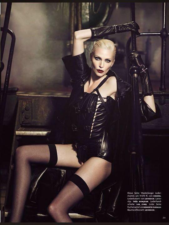 Nadja Auerman. Vogue Germany.