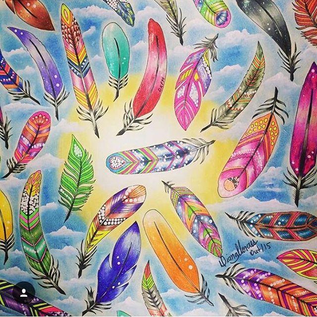 Fundo De Nuvens Com Essas Penas Lindas Top Demais Colorido Por Dianamoraesdkpm