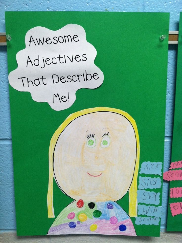 Life in First Grade Awesome Adjectives and Anchor Charts K-2