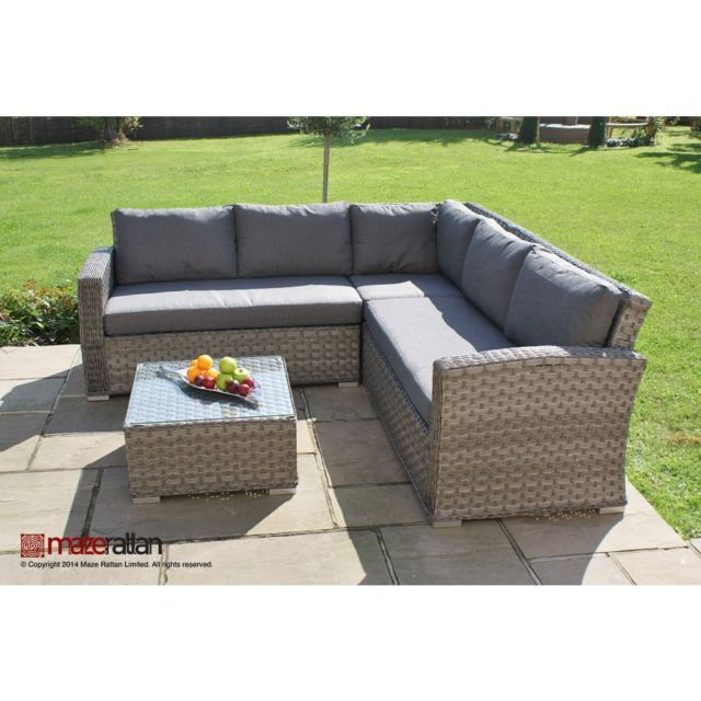 Columbia rattan garden furniture small corner sofa set for Small outdoor sofa
