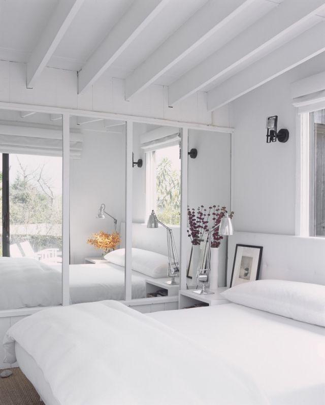 verspiegelte schranktüren schlafzimmer optisch vergrößern | Haus ...