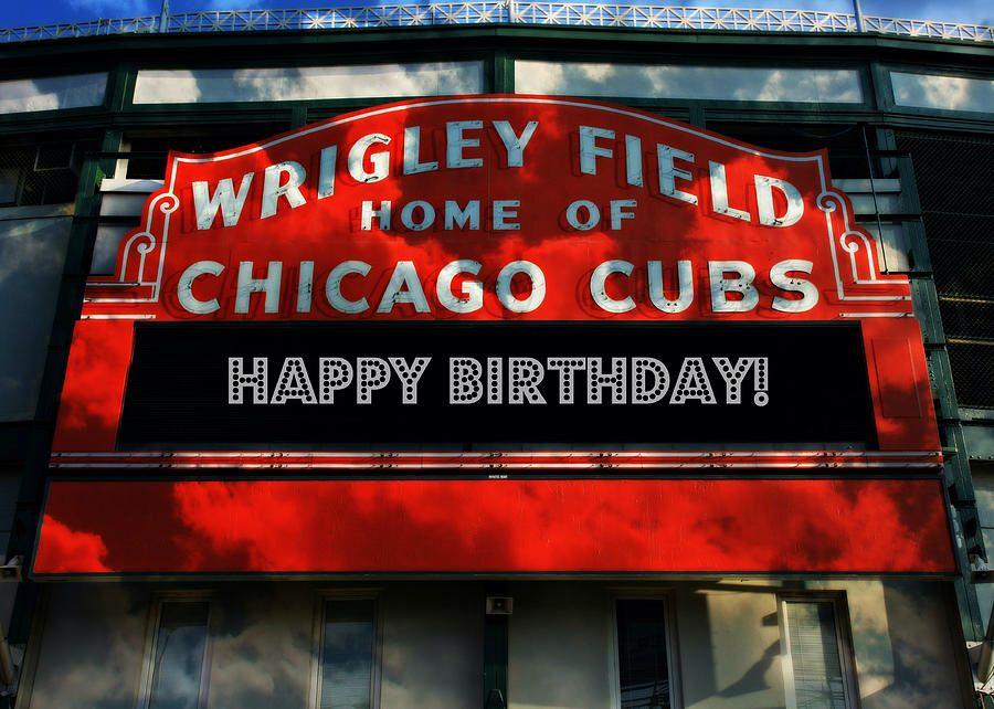 Happy Birthday From Chicago Cubs Seasonal And Birthdays Baseball