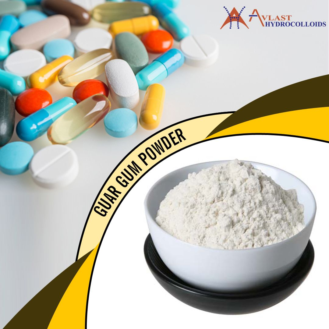 Guar Gum Powder Is Utilized In Pharmaceutical And