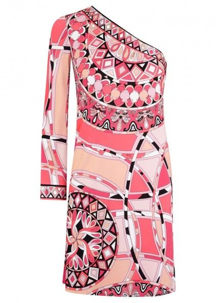 Emilio Pucci Printed one-shoulder jersey dress