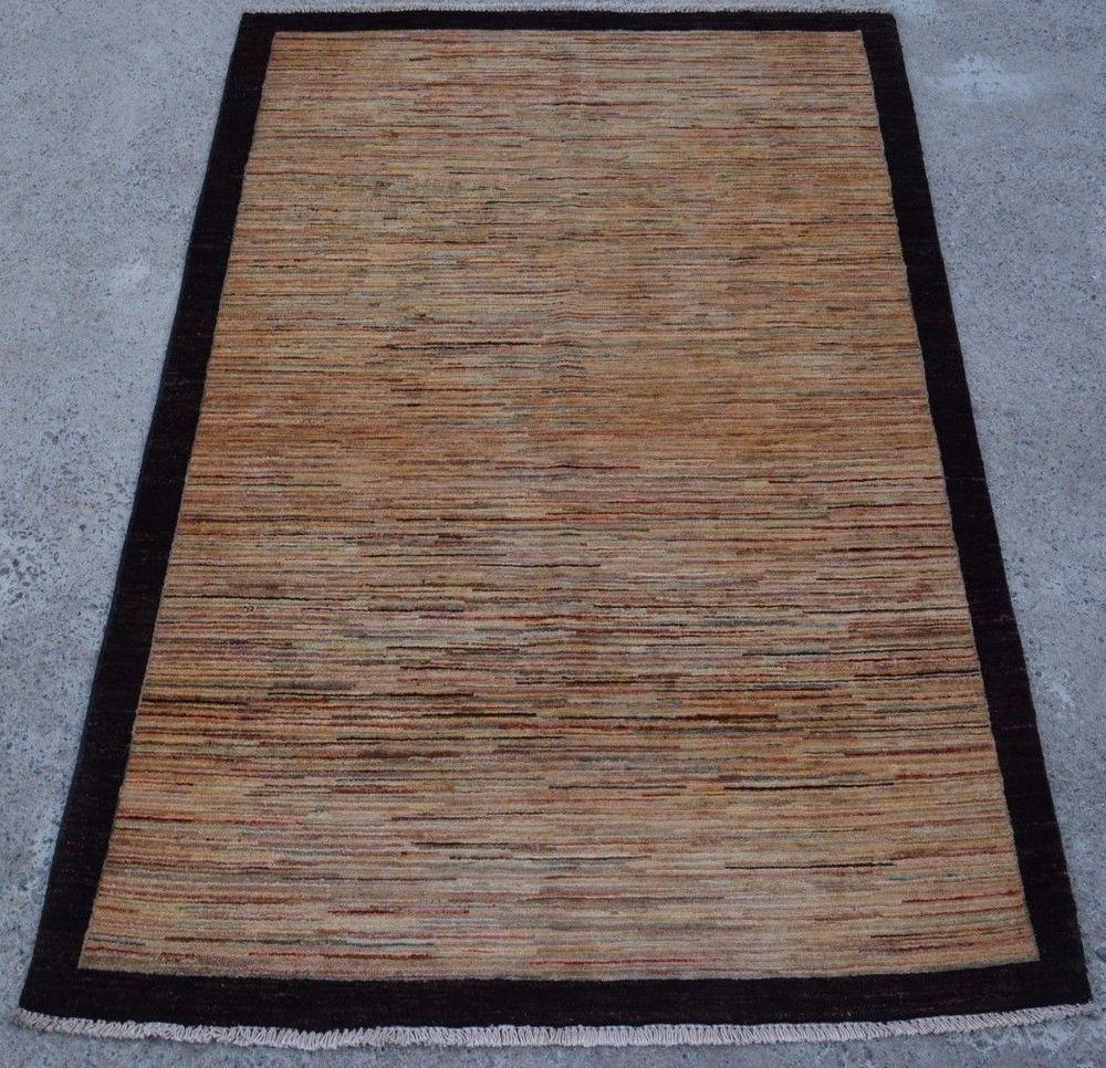 Hallway carpet runners sold by the foot  L Handmade Afghan Oriental Striped Rug Black Border u x u