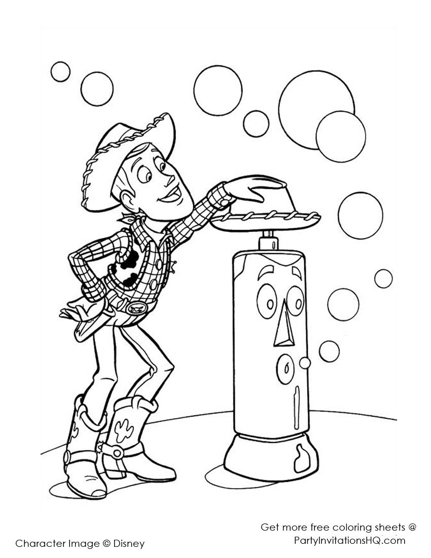 101 Toy Story Coloring Pages (July 2020)...Woody Coloring Pages too... | 1100x850