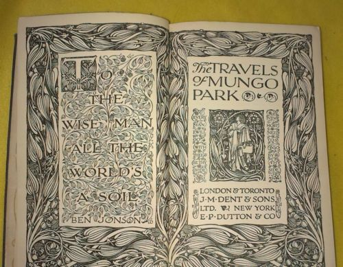 The Travels of Mungo Park, 1932. No. 205 of Everyman's Library. | eBay