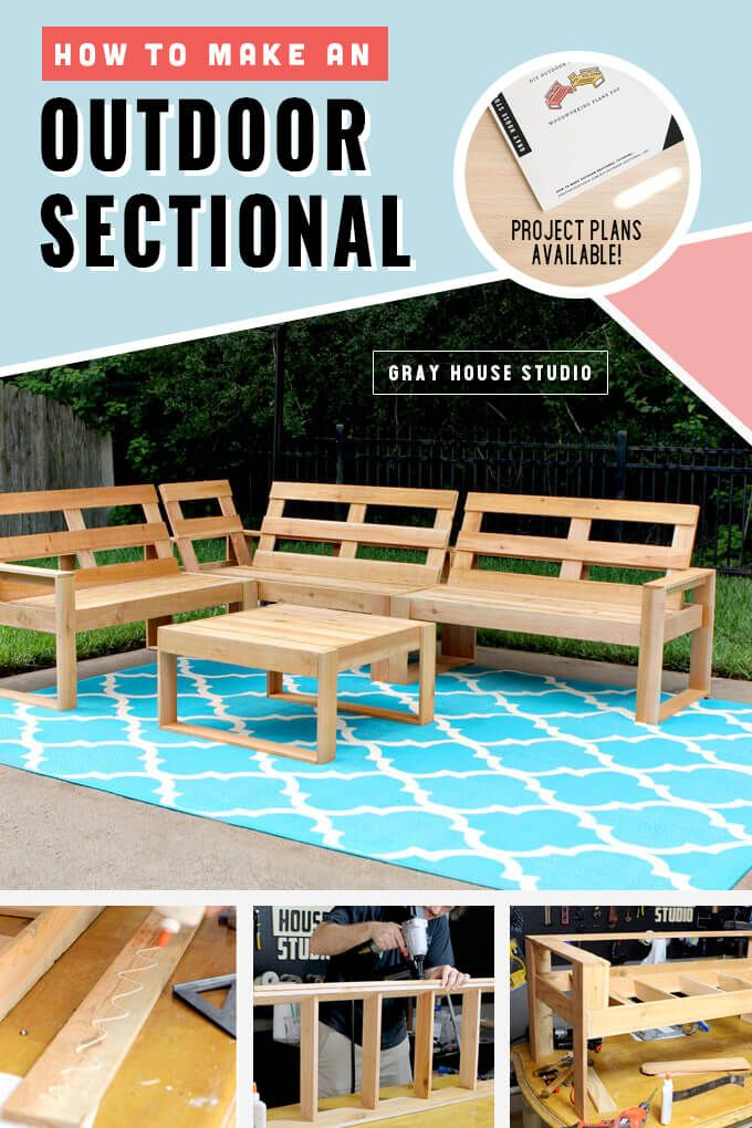 Photo of How to Make an Outdoor Sectional