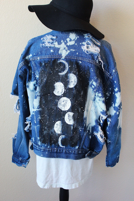 Moon Phase | Denim Jacket | XL