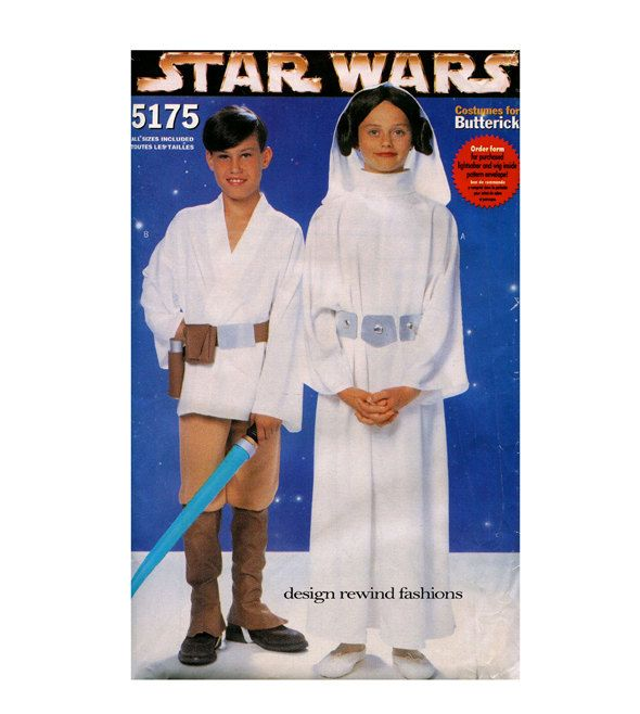 starwars costume patterns luke skywalker princess leia costumes butterick 5172 boys girls childrens halloween sewing patterns size sm xl - Childrens Halloween Costume Patterns