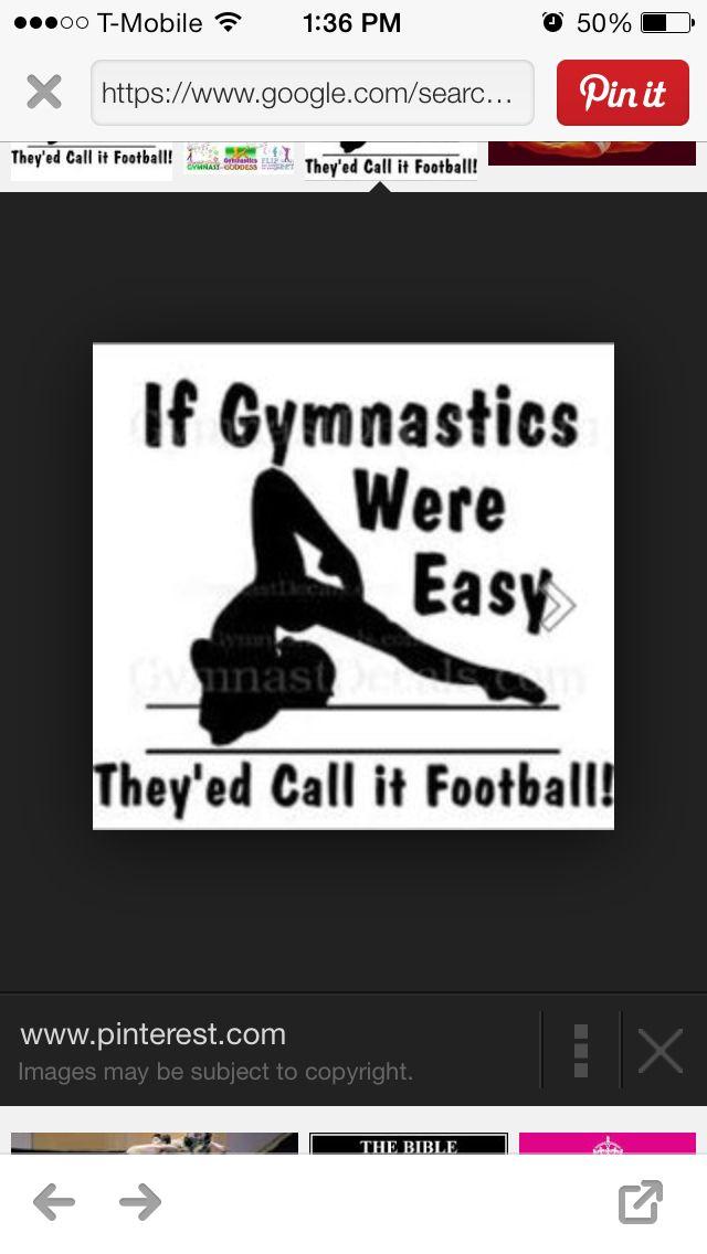 Gymnastics is sooo much harder than football! if anyone thinks dance or gymnastics isn't a sport i WILL KILL U!
