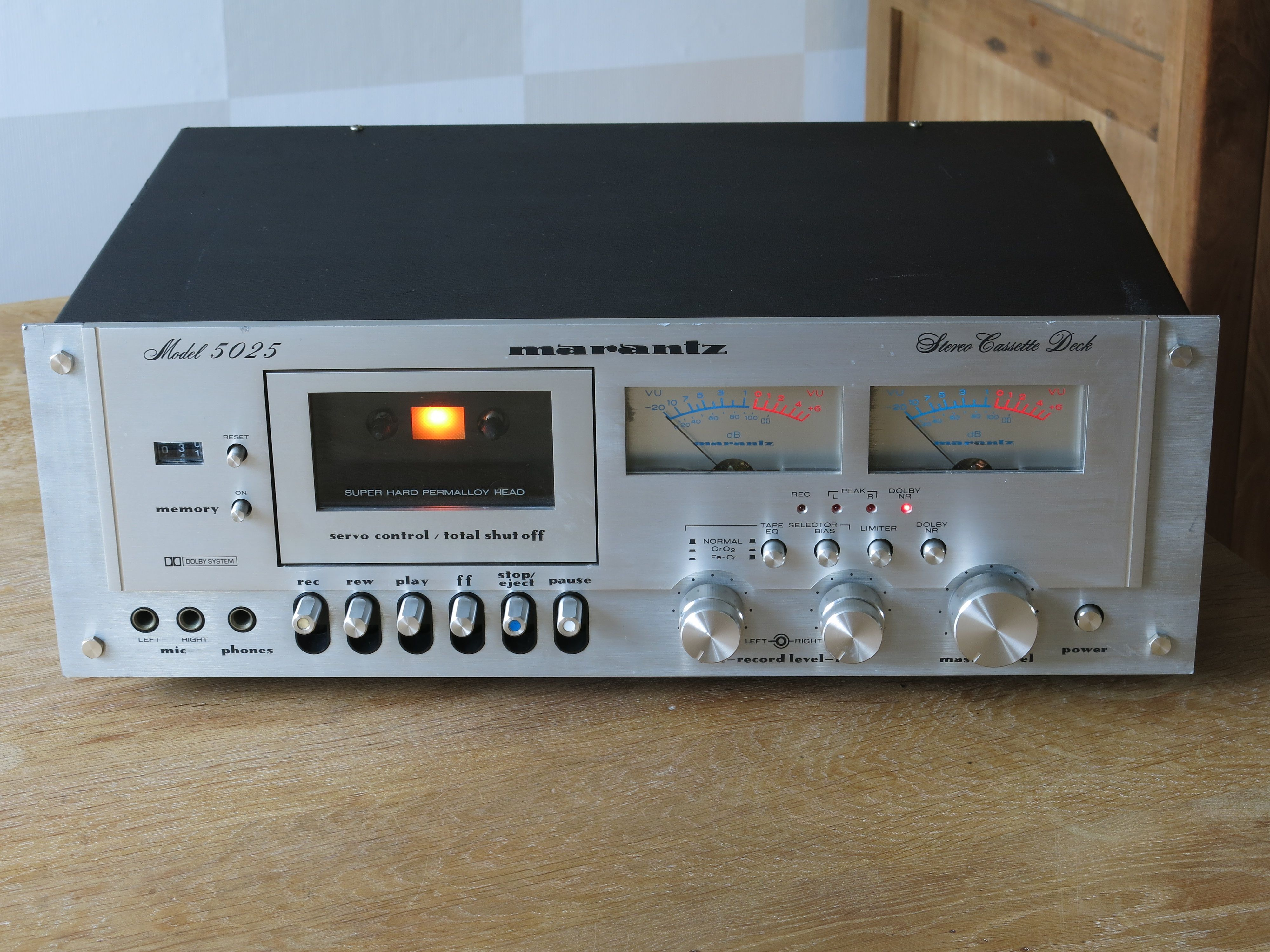 Marantz Stereo Cassette Deck Model 5025 1980 Retro