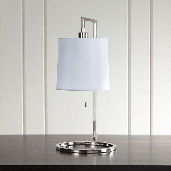 Crate U0026 Barrel Carlisle Nickel Table Lamp (950 ILS) ❤ Liked On Polyvore  Featuring