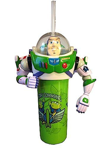 Disney Parks Exclusive Toy Story Buzz Lightyear Star Command Sipper Cup with Movable Arms and Wings