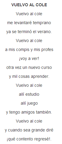 Vuelvo Al Cole Poema Escuela Pinterest Poemas