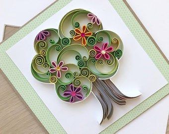 Quilling Personalized Card Quilled Letters A-Z | Etsy